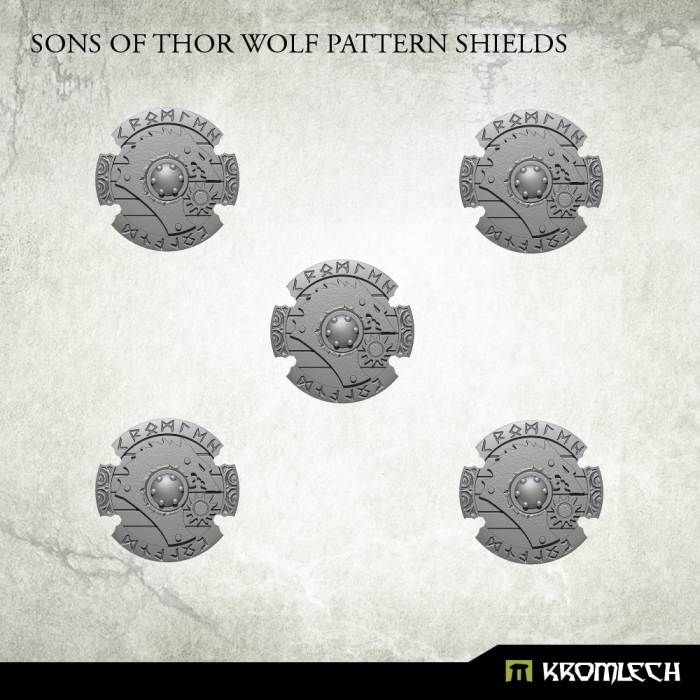 New Release ! Sons of Thor Wolf Pattern Shields