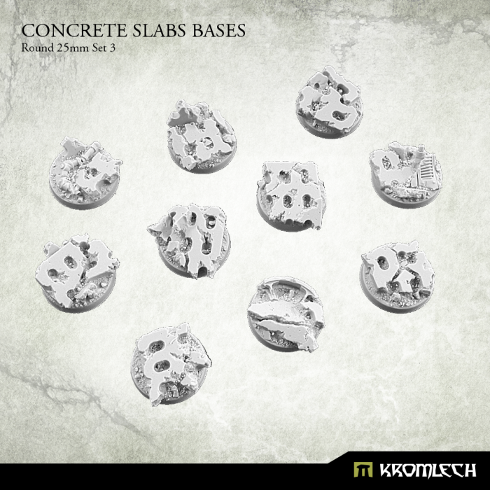 New Release ! Concrete Slabs Bases: Round 25mm