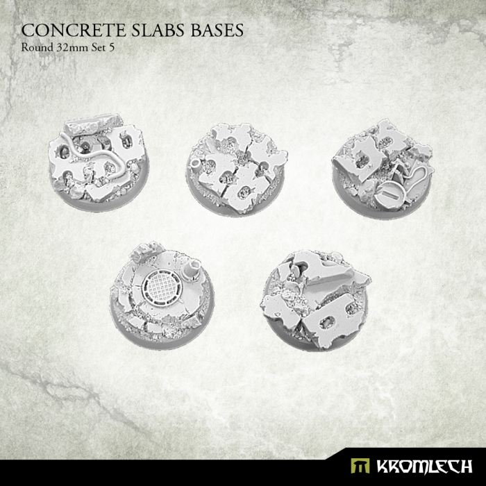 New Release ! Round 32mm Concrete Slabs Bases