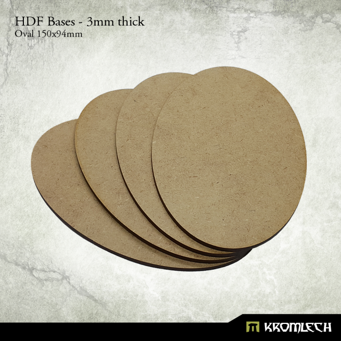 New Release ! 3mm thick, HDF Oval bases 150x94mm