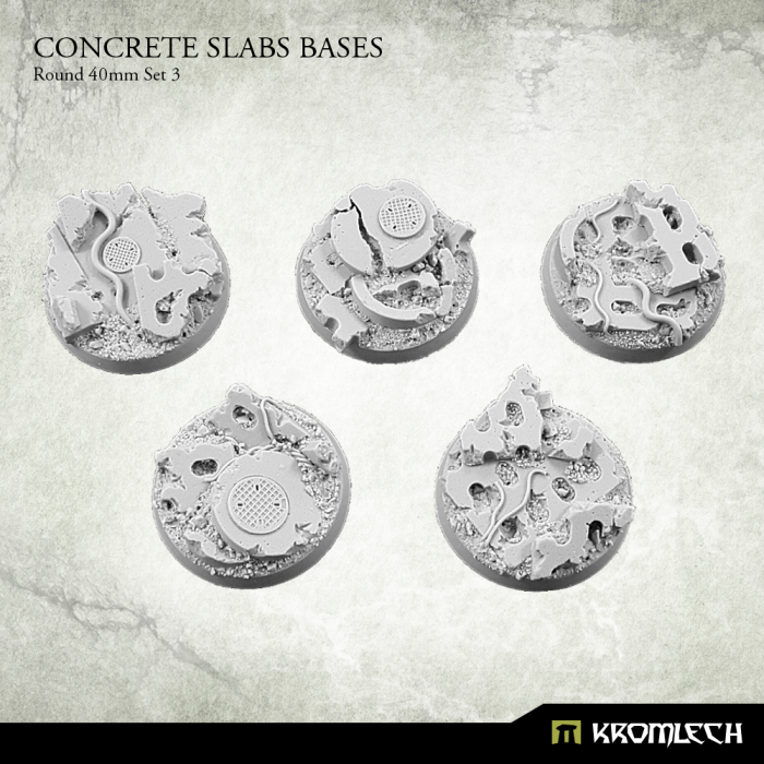 New Release ! Concrete Slabs Bases: Round 40mm